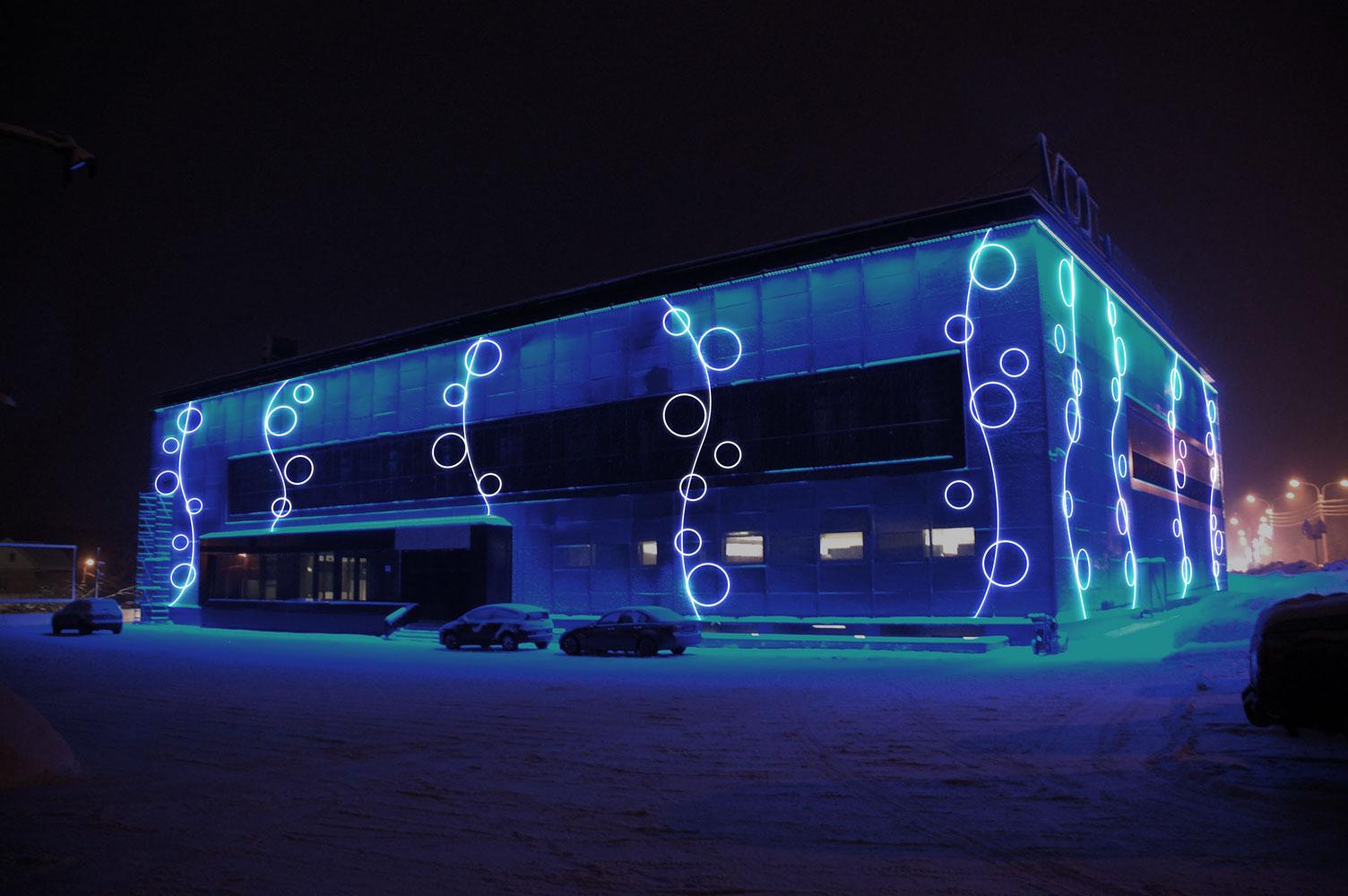 Праздничное оформление фасадов зданий posting